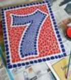 Faux Mosaic - Make Your Own House Number