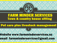 Farm Minding Town and country house sitting, pet and livestock care