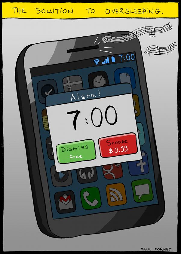 The solution to oversleeping - joke