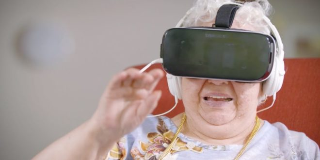 80 year old experiences virtual reality for the first time