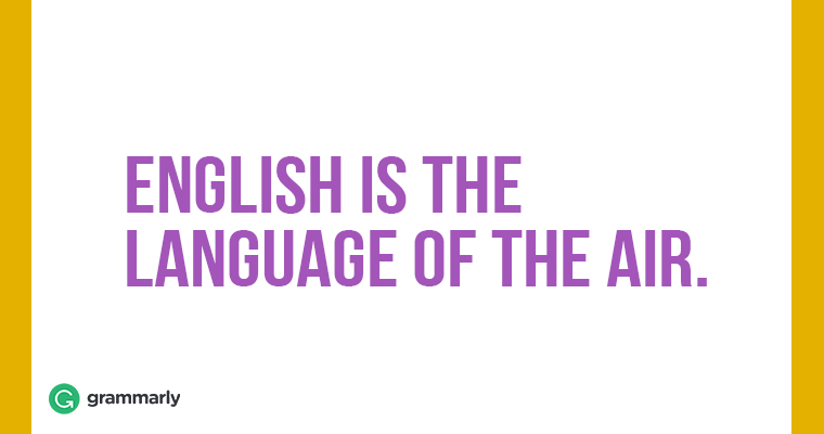 9 English is the language of the air 09