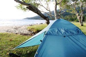 Camping grounds are dotted along the tropical East Coast.