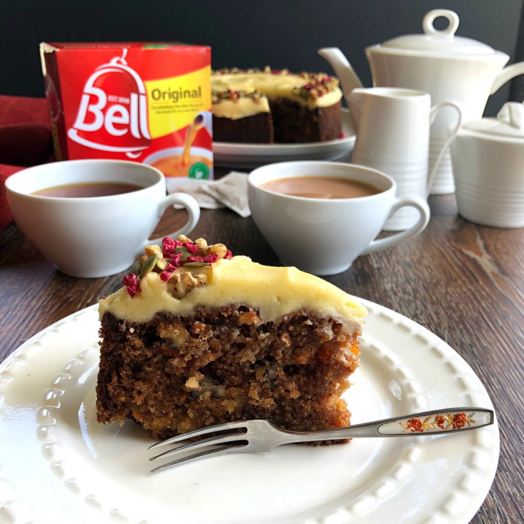 Carrot Pineapple Cake paired with Bell Original Tea