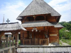 Churches are made entirely of wood
