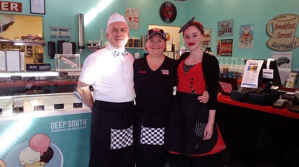We loved the uniforms at Cruisy Days Diner