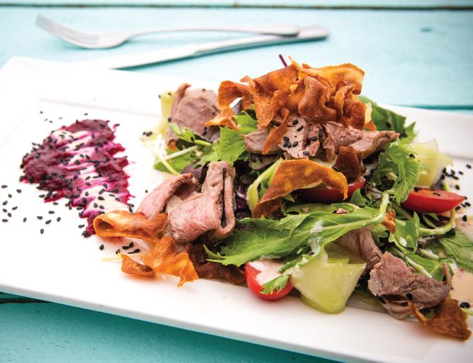 DELICIOUS DUNEDIN Simply Lamb Salad