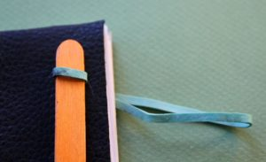 DIY book rubber bands recyclable materials