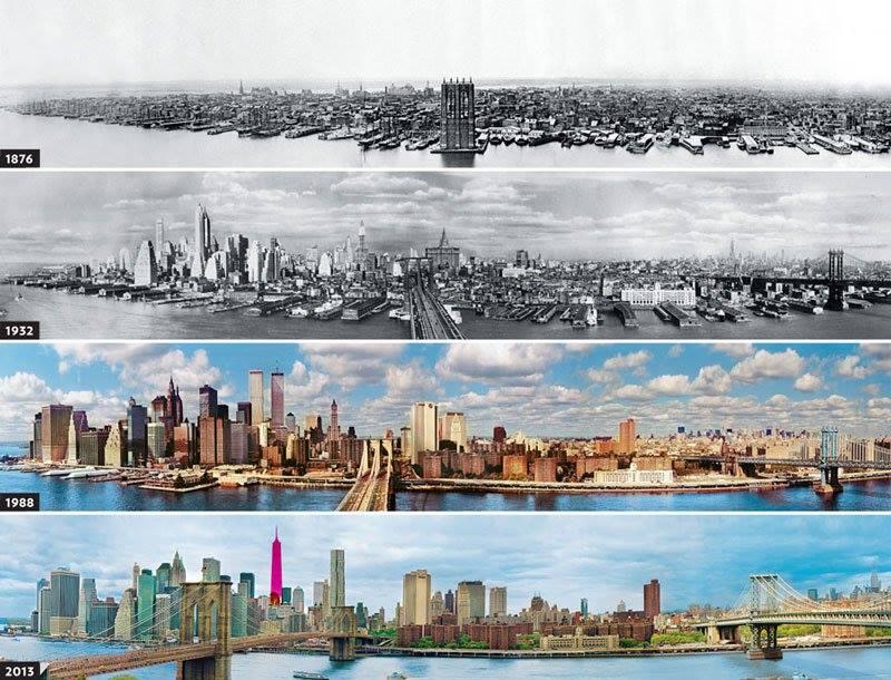 Evolution of New York skyline 950824073 n