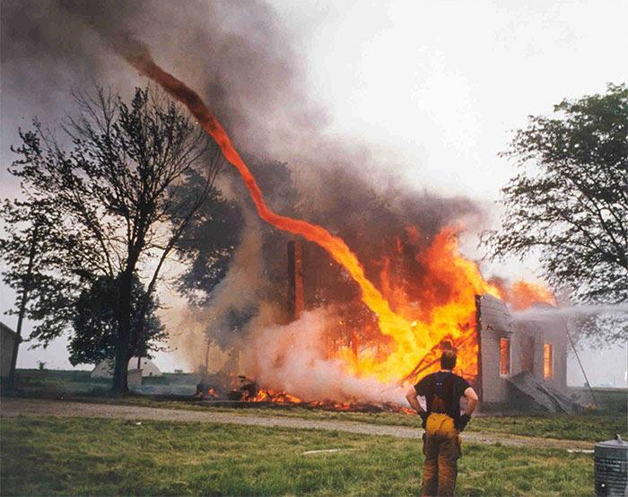 Fire and tornado