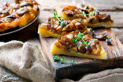 l mushrooms tart