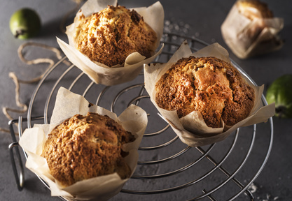 Feijoa Muffins with Crunchy Topping
