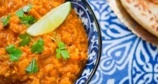 Vegan Red Lentil Dal -  Vegetarian Indian Cuisine