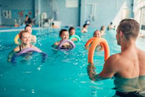aerobics pool class