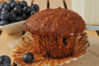 Healthy flax seed and bran muffin