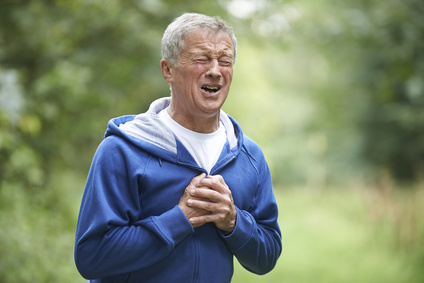 Senior Man Suffering Heart Attack Whilst Jogging