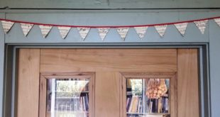 Hang your mini bunting on the door frame.