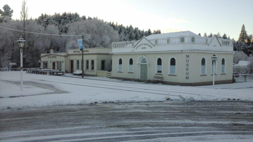 In winter the township receives regular dumps of snow. John Noonan