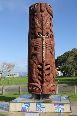 Kāwhias pillar of remembrance