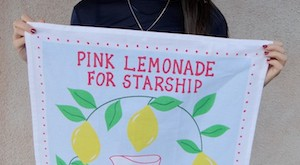 RubySeeto Pink Lemonade tea towel 2015
