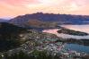 landscape of queenstown region in dusk , New Zealand
