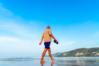 exercise, walk, beach