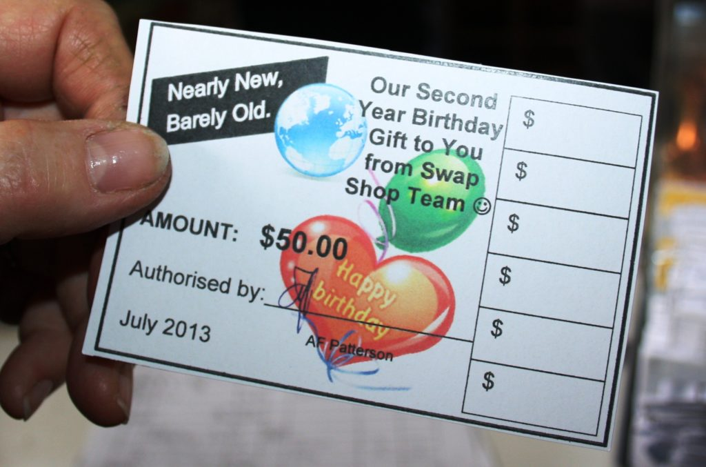 Vouchers help to keep stock moving.