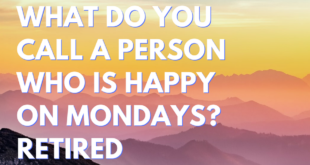 What do you call a person who is happy on mondays Retired