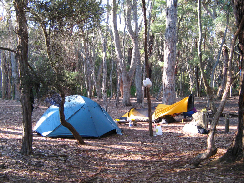 Wilderness trail camp site.