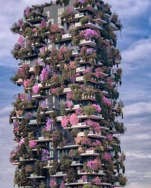 apartment block in Milan Italy