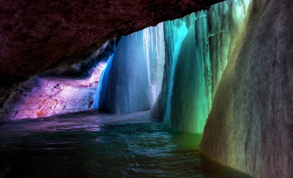 behind-a-frozen-waterfall
