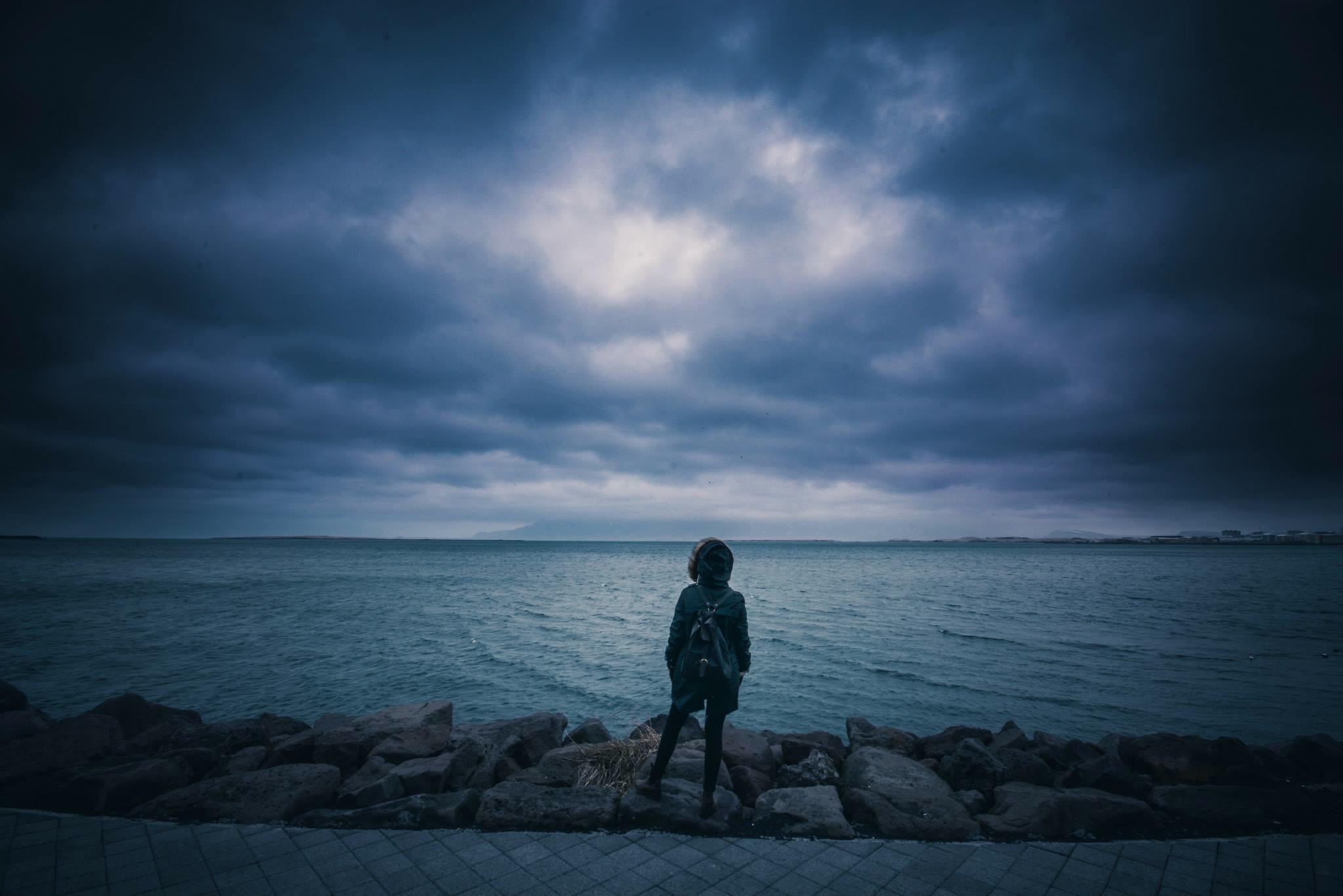 storm, sea