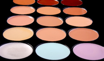 make-up, concealer tone cream sample