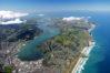 Dunedin, Otago Peninsula & Harbour, & Pacific Ocean - aerial