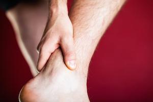 Running physical injury, leg pain. Runner sore body after exercising