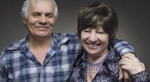 Older couple - smiling seniors people