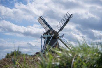 mill-sky-clouds-grass-339343