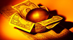 Gold Nest Egg - Financial Concept