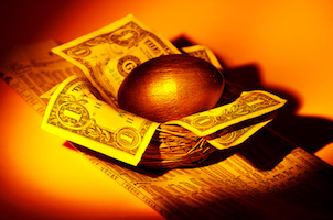 Gold Nest Egg - Financial Concept