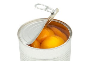 peaches in a canister in syrup