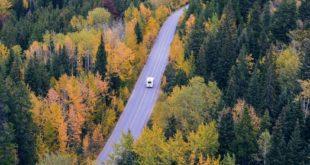 road, camper van