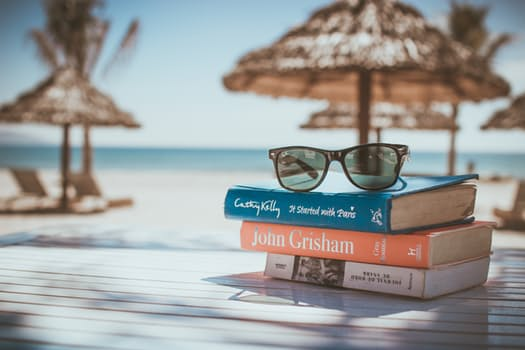 books, relax, beach