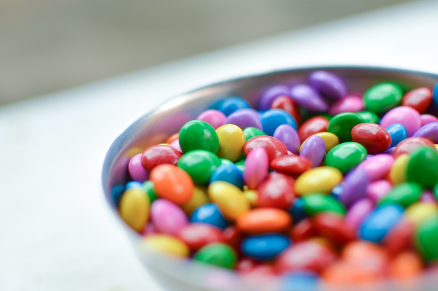 m&ms, sweets