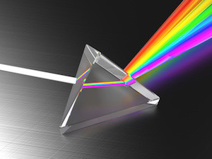 abstract 3d illustration of light dividing prism