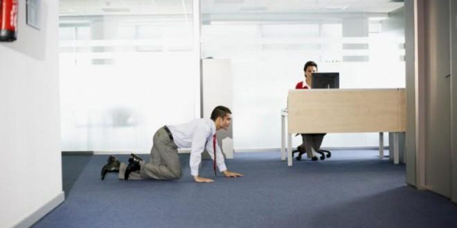 sneaking-out-of-the-office