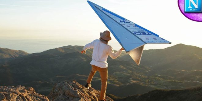video one huge giant paper plane