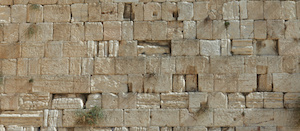 Stones of the wailing wall in Jerusalem